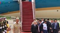 Hình ảnh Tổng Bí thư Nguyễn Phú Trọng bắt đầu thăm Myanmar