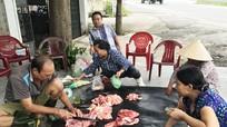 Tràn lan thịt lợn vỉa hè