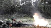 Diễn tập chiến thuật bắn đạn thật cấp đại đội bộ binh