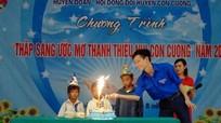 Tổ chức sinh nhật cho học sinh nghèo trong chương trình 'Thắp sáng ước mơ'