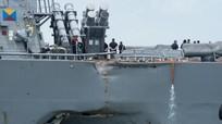Xác định vị trí 10 thủy thủ mất tích trên tàu khu trục