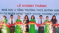 Vietcombank bàn giao nhà học 2 tầng tại Quỳnh Lưu