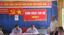 Chủ tịch huyện dự sinh hoạt chi bộ bản biên giới