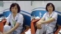 Gác chân lên ghế, nữ tiến sĩ Bệnh viện Mắt bị tạm dừng chuyên môn