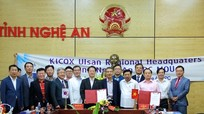 Nghệ An ký kết hợp tác với các doanh nghiệp tỉnh Ulsan, Hàn Quốc