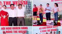 550 doanh nghiệp dự hội nghị khách hàng tại Trạm nghiền xi măng Nghi Thiết