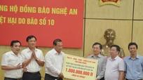 Tỉnh Bình Phước hỗ trợ Nghệ An 1 tỷ đồng khắc phục hậu quả bão số 10