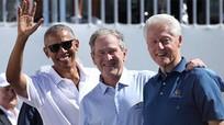 Obama, Clinton, Bush cổ vũ tuyển Mỹ ở ngày đầu Presidents Cup