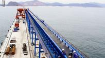 Công ty CP Xi măng Sông Lam vận hành thử băng tải dài 3.000m