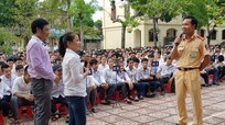 Hơn 1.500 giáo viên, học sinh được tuyên truyền Luật Giao thông đường bộ