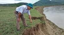 Báo động lở đất bãi sông ở Thanh Chương
