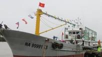 Đưa vào sử dụng tàu vỏ thép hậu cần nghề cá đầu tiên ở Nghệ An