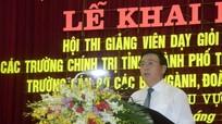 Bí thư T.Ư Đảng Nguyễn Xuân Thắng dự khai mạc Hội thi giảng viên dạy giỏi toàn quốc