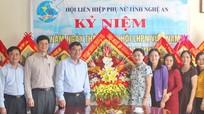 Bí thư Tỉnh ủy chúc mừng Hội Liên hiệp phụ nữ tỉnh nhân ngày truyền thống