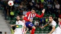Atletico gây thất vọng khi bị đội hạng ba cầm hòa