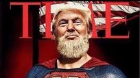 Con trai Trump đăng ảnh bố trong hình siêu nhân