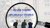 Nghệ An: Công bố 50 doanh nghiệp có dấu hiệu rủi ro về thuế