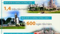 [Infographic] Bức tranh sản xuất xi măng ở Nghệ An