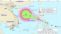 Biển Đông xuất hiện cơn bão số 13 đang mạnh lên