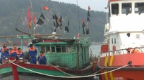 Tiếp nhận 13 ngư dân Nghệ An được cứu khi gặp nạn gần đường biên giới trên biển