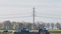 AH-64E lại rơi vì đâm phải dây điện khi bay đêm