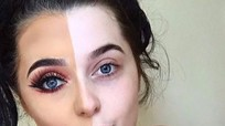 Trào lưu trang điểm nửa mặt gây sốt trên Instagram