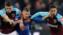 West Ham và Leicester chia điểm