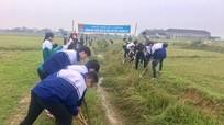 600 đoàn viên nạo vét kênh cấp nước cho 30 ha đất nông nghiệp