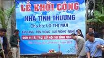 Sở Nội vụ khởi công xây dựng nhà tình nghĩa cho hộ nghèo Quế Phong