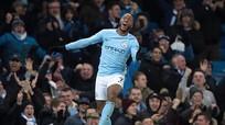 Sterling tỏa sáng phút bù giờ thứ 6, Man City vững ngôi đầu