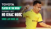 Tiền vệ trung tâm SLNA xuất sắc nhất V.League 2017