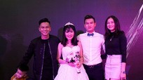 Tiền vệ Ngọc Toàn của SLNA rạng rỡ trong ngày cưới