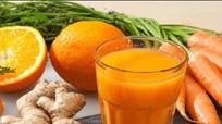 Uống nước ép cà rốt gừng mỗi sáng mang lại năng lượng tuyệt vời
