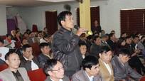 Ban Thường vụ Thị ủy Thái Hòa tiếp xúc, đối thoại với nhân dân