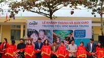 Cargill Việt Nam bàn giao 4 phòng học cho Trường Tiểu học Nghĩa Trung, trị giá trên 1,3 tỷ đồng