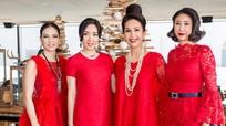 Dàn 'người đẹp không tuổi' gây chú ý khi cùng diện váy đỏ rực