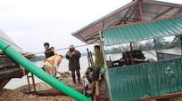 Bắt giữ 3 thuyền khai thác cát trái phép trên sông Lam