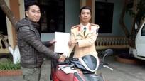 Từ thành phố Hồ Chí Minh về Nghệ An nhận lại xe máy bị mất trộm sau 3 năm