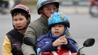 70% trẻ em chưa đội mũ bảo hiểm