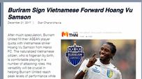 Hoàng Vũ Samson gia nhập CLB Buriram ở Thai League