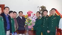 Bộ Chỉ huy quân sự tỉnh chúc mừng các giáo xứ nhân lễ Giáng sinh