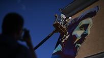 Xuất hiện tranh tường graffiti chân dung Messi ở Kazan