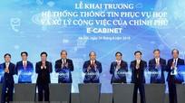 Thủ tướng Nguyễn Xuân Phúc chủ trì phiên họp đầu tiên qua hệ thống e-Cabinet