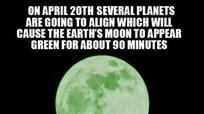 """Ngày 20/4, sẽ có """"Trăng xanh lá""""?"""