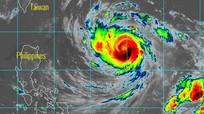Xuất hiện siêu bão Trami gần Biển Đông