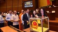 Quốc hội tiến hành bầu Chủ tịch nước bằng hình thức bỏ phiếu kín