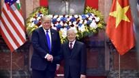 Tổng Bí thư, Chủ tịch nước Nguyễn Phú Trọng hội đàm với Tổng thống Mỹ Donald Trump