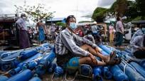 Dịch Covid-19 bùng phát, các bệnh viện ở Myanmar 'khát' oxy