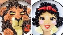 Bà mẹ bỗng nổi tiếng nhờ trang trí các nhân vật hoạt hình trên món ăn cho con