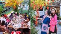 'Người yêu tin đồn' về quê Ngô Thanh Vân ăn Tết